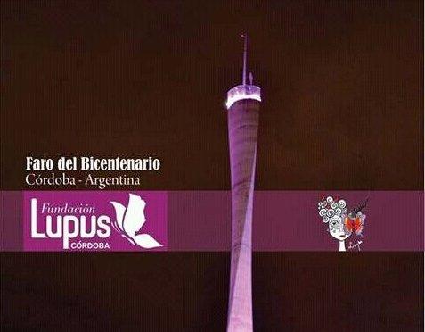 Día Mundial del Lupus- Córdoba se vistió de púrpura
