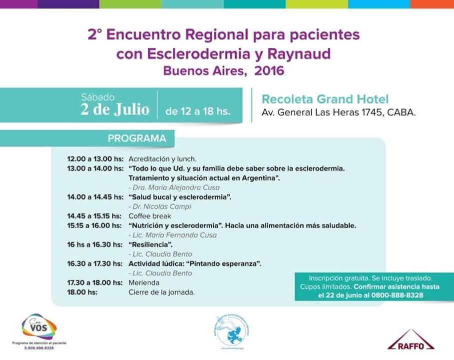 2° Encuentro Regional para pacientes con Esclerodermia y Raynaud