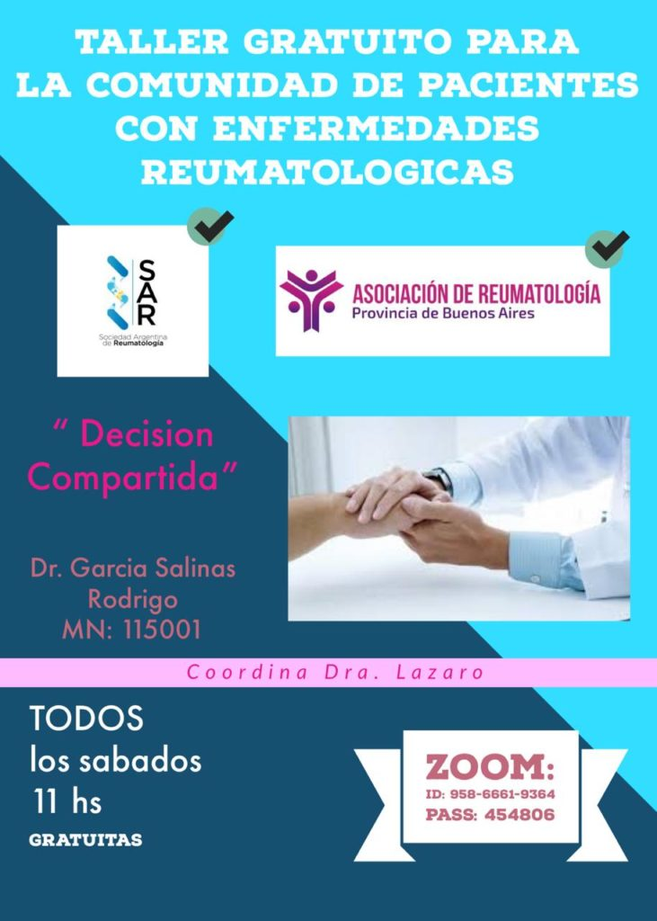 Taller gratuito para la comunidad de pacientes con enfermedades reumatológicas