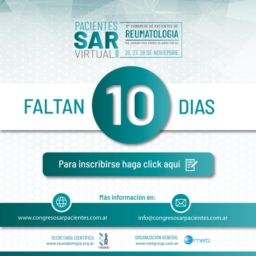 Congreso de Pacientes, Faltan 10 días ¡¡INSCRIBITE!!