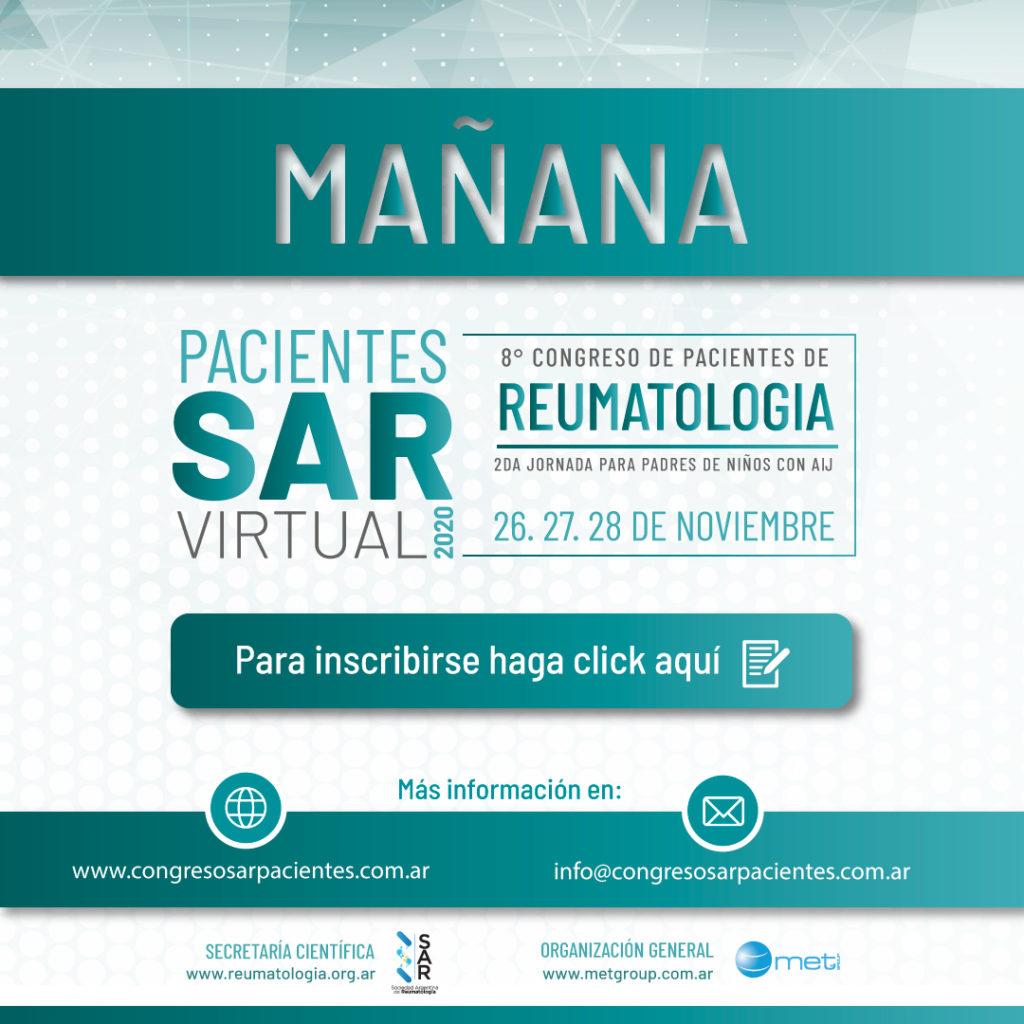 Mañana es el Congreso de Pacientes !!INSCRIBITE YA!!