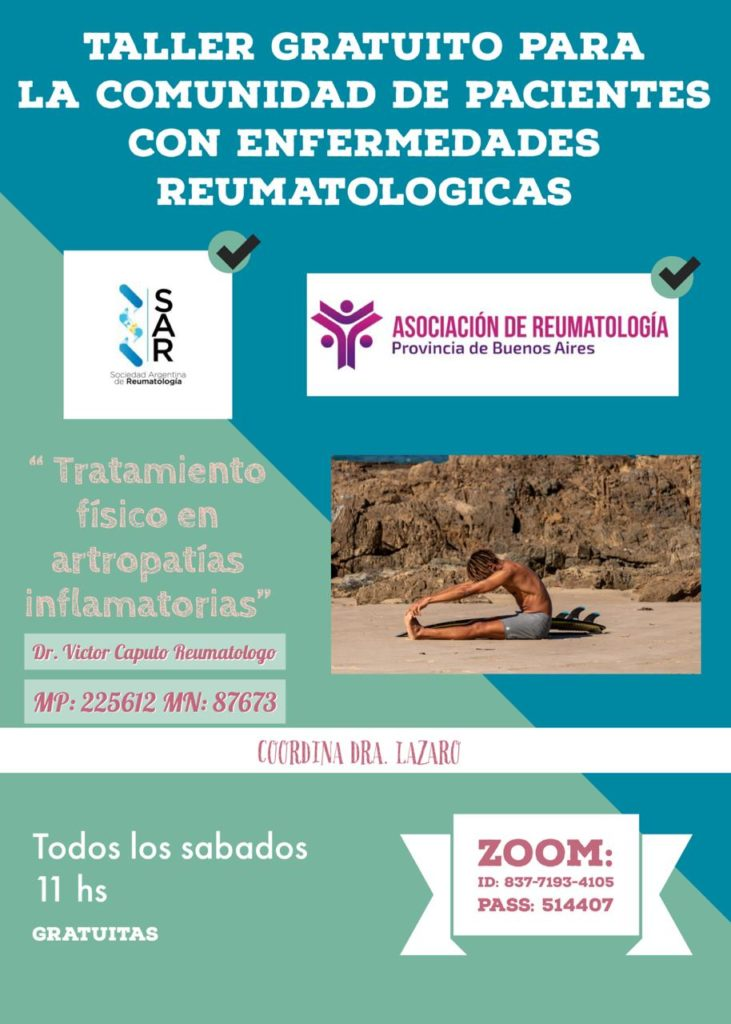 Taller gratuito: tratamiento físico en artropatías inflamatorias