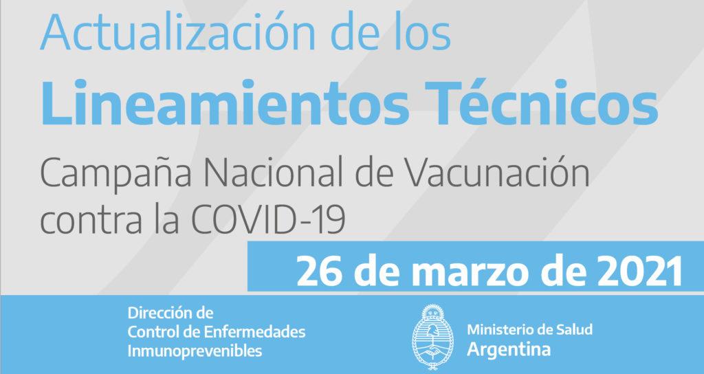 Actualización de los Lineamientos Técnicos Campaña Nacional de Vacunación contra la COVID-19