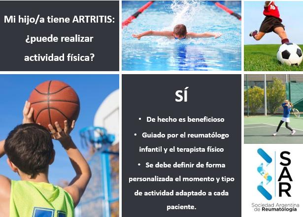 Mi hijo/a tiene Artritis: ¿puede realizar actividad física?