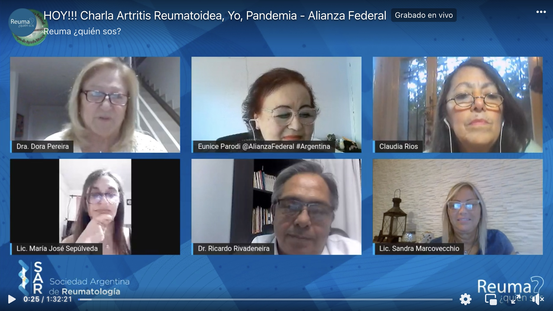 Charla Alianza Federal – Artritis- Yo, Pandemia